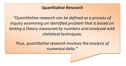 Image showing a definition of quantitative research